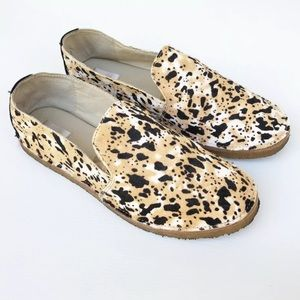 Nude Footwear 7 Leather Animal Leopard Print Flats
